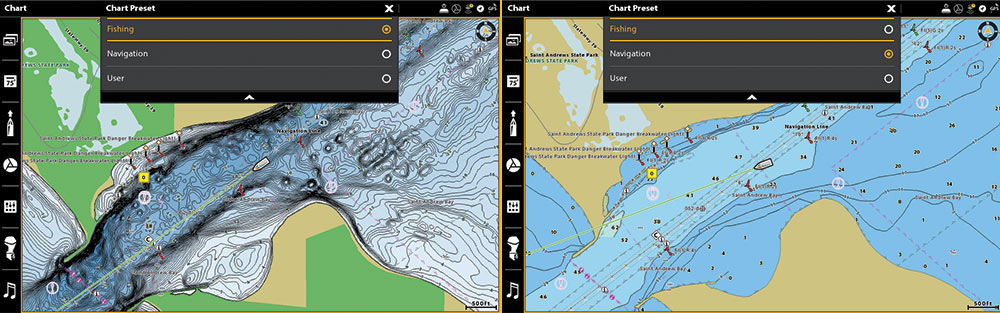 humminbird coastmaster chart options
