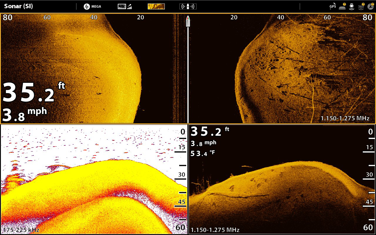 Side imaging humminbird for Side imaging fish finders